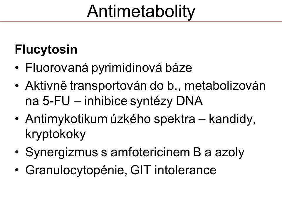 Antimetabolity Flucytosin Fluorovaná pyrimidinová báze