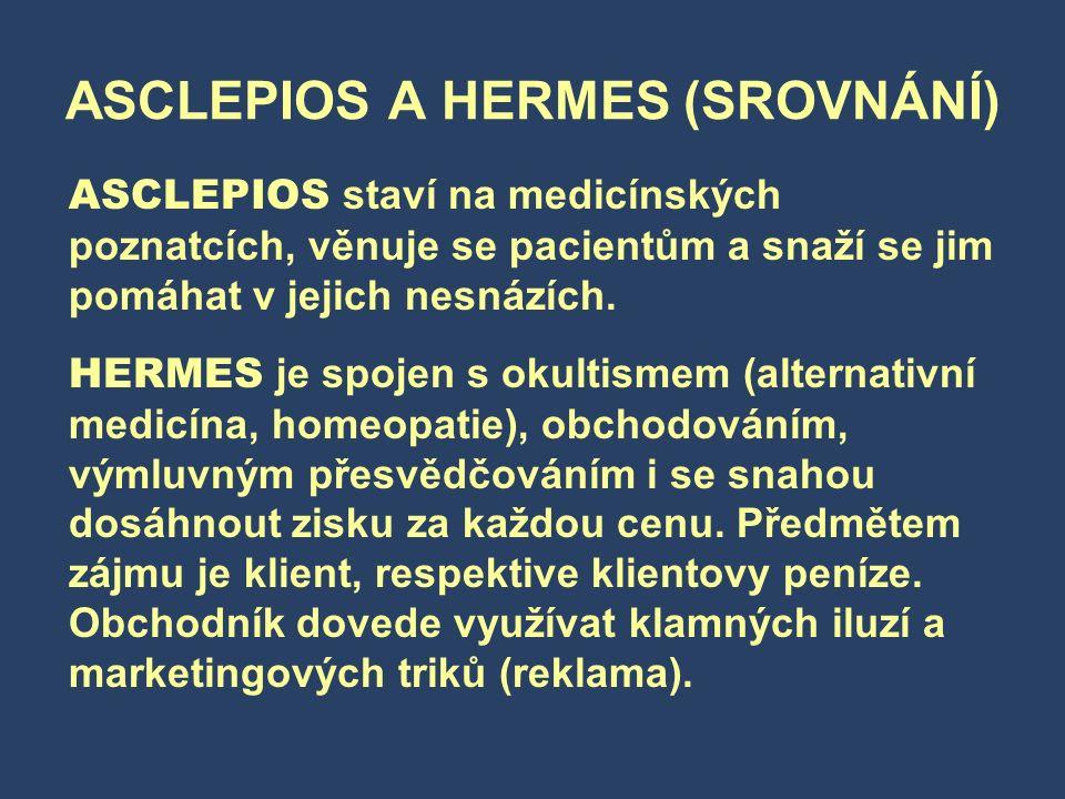 ASCLEPIOS A HERMES (SROVNÁNÍ)
