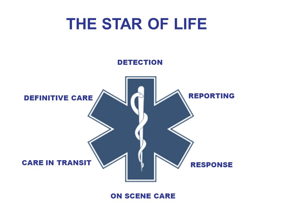 THE STAR OF LIFE DETECTION REPORTING DEFINITIVE CARE CARE IN TRANSIT