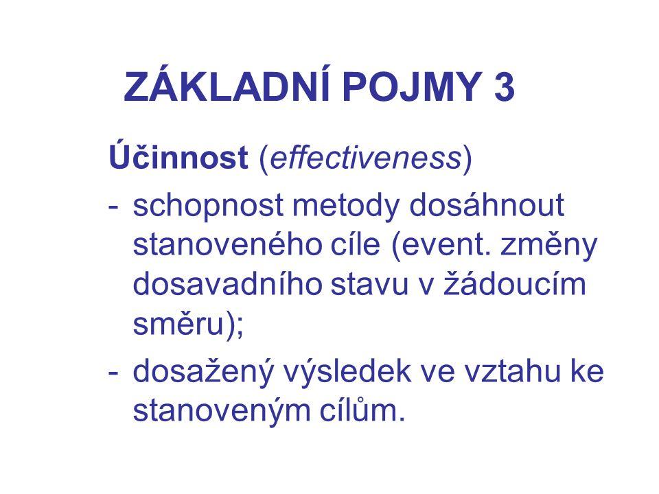 ZÁKLADNÍ POJMY 3 Účinnost (effectiveness)