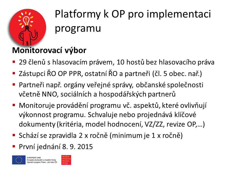 Platformy k OP pro implementaci programu