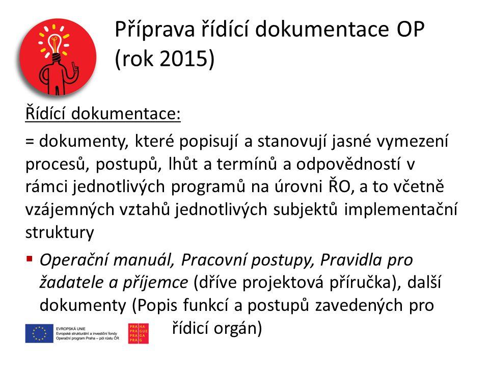 Příprava řídící dokumentace OP (rok 2015)