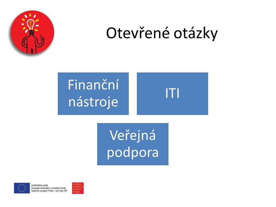 Otevřené otázky Finanční nástroje ITI Veřejná podpora