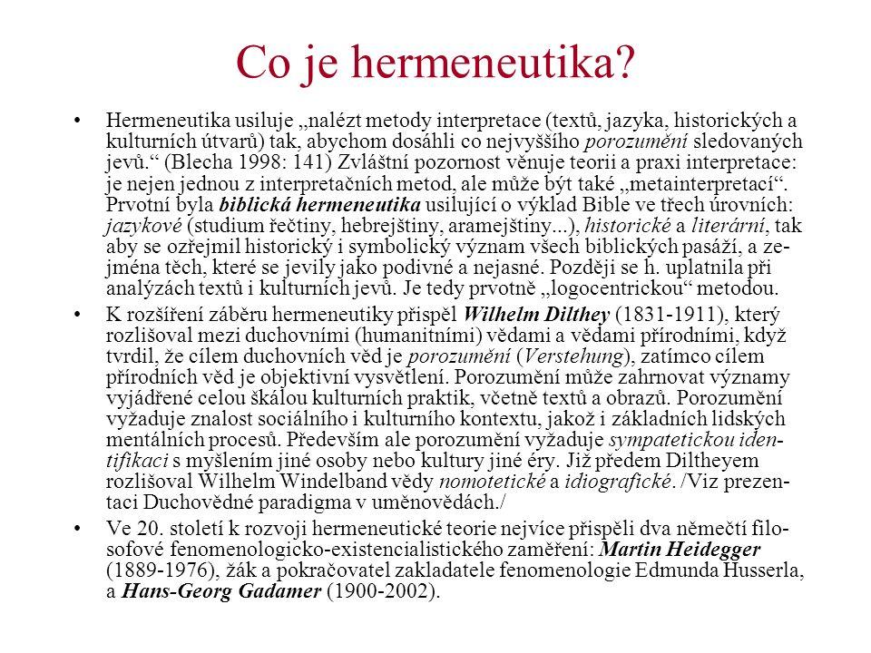 Co je hermeneutika