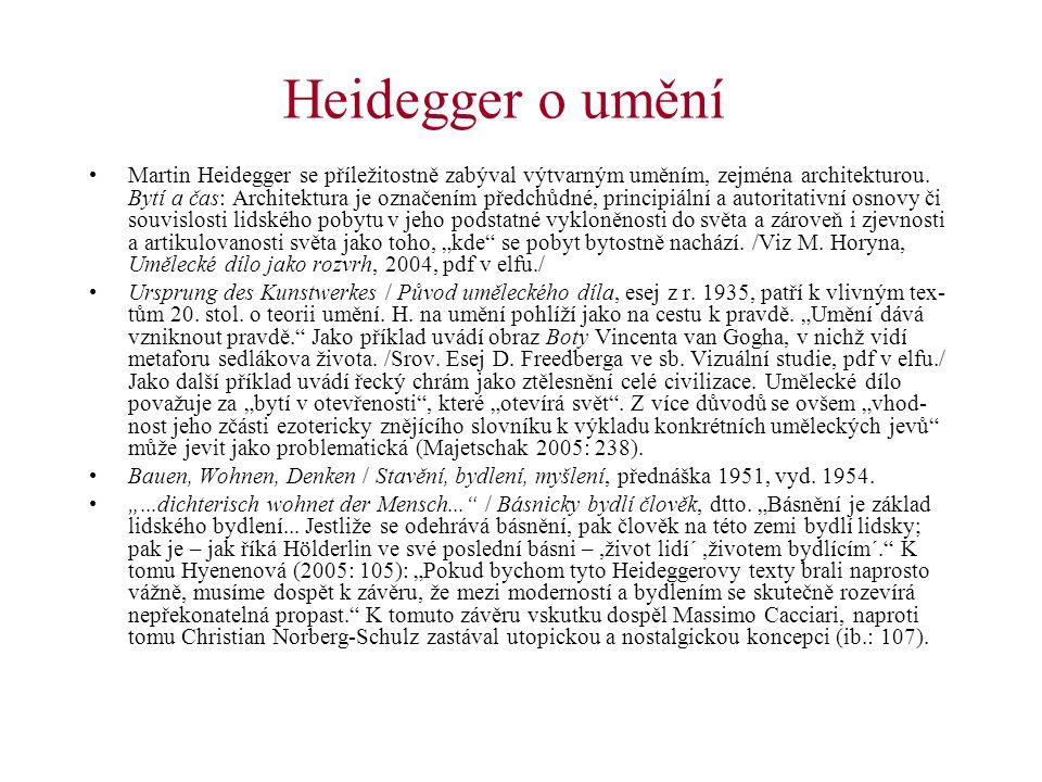 Heidegger o umění
