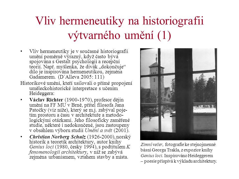 Vliv hermeneutiky na historiografii výtvarného umění (1)
