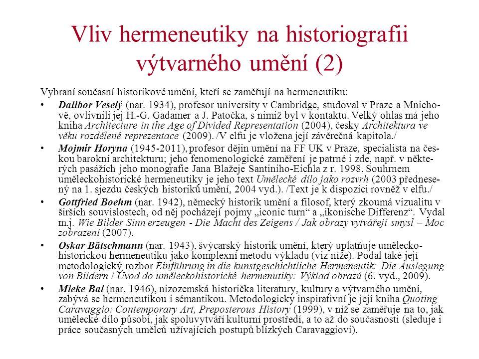 Vliv hermeneutiky na historiografii výtvarného umění (2)
