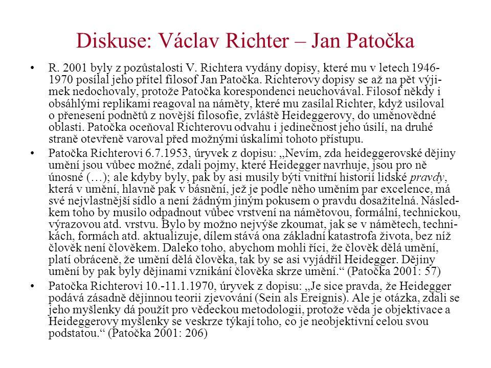 Diskuse: Václav Richter – Jan Patočka