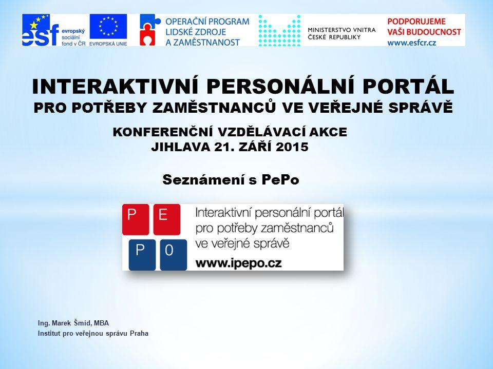Ing. Marek Šmíd, MBA Institut pro veřejnou správu Praha