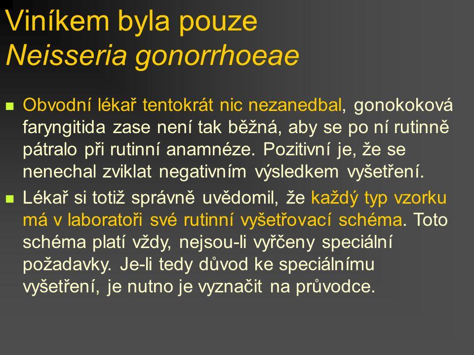 Viníkem byla pouze Neisseria gonorrhoeae
