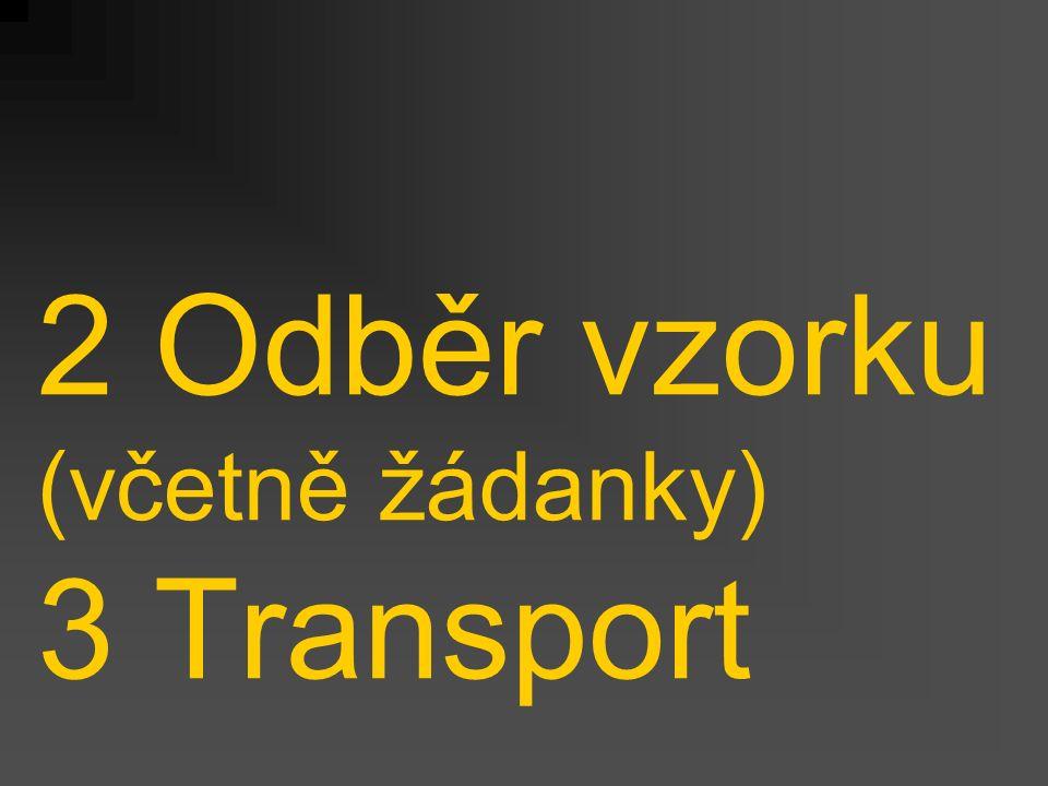 2 Odběr vzorku (včetně žádanky) 3 Transport