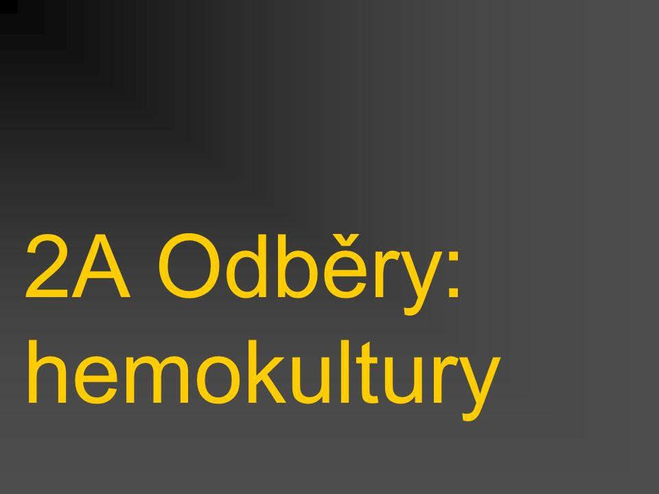 2A Odběry: hemokultury
