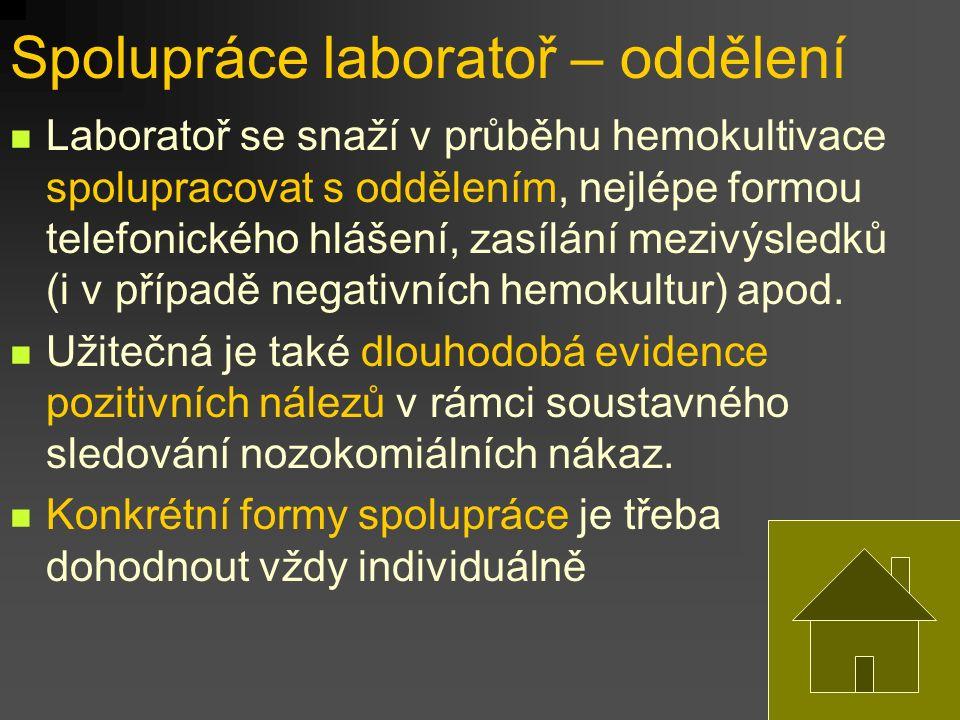 Spolupráce laboratoř – oddělení