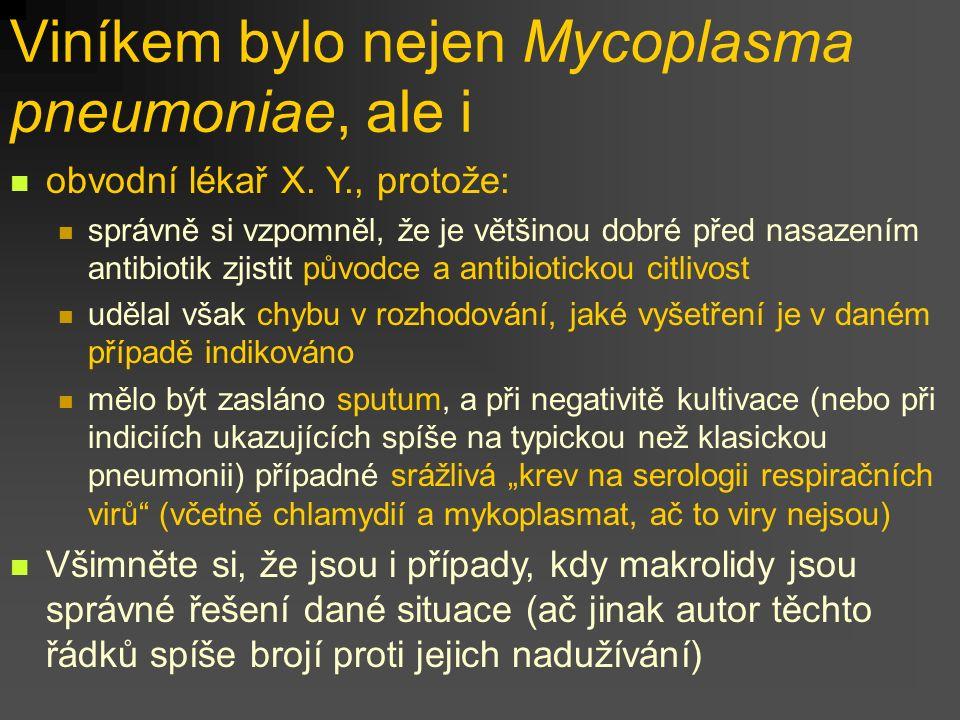 Viníkem bylo nejen Mycoplasma pneumoniae, ale i