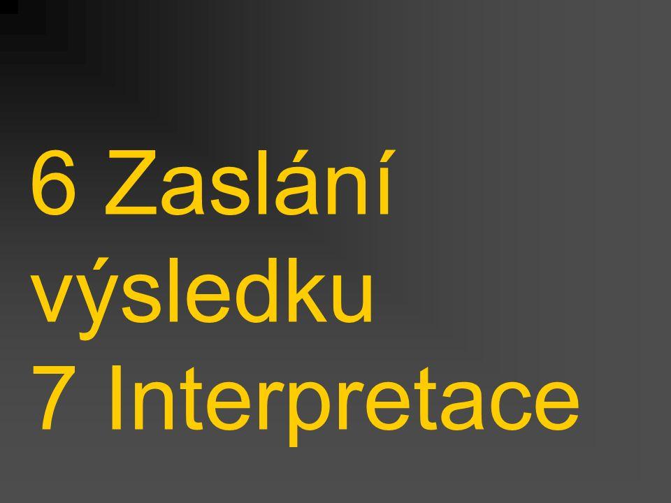 6 Zaslání výsledku 7 Interpretace