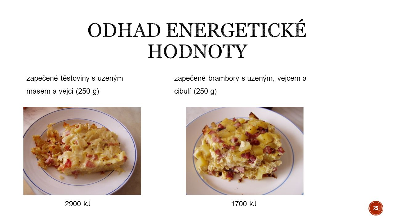 Odhad energetické hodnoty