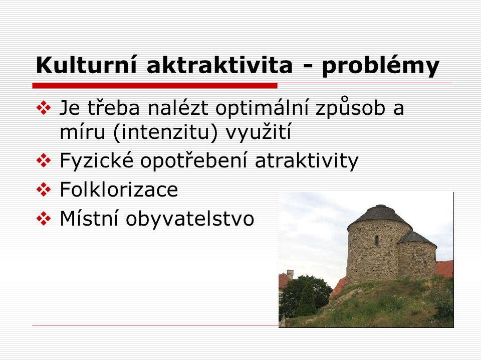 Kulturní aktraktivita - problémy
