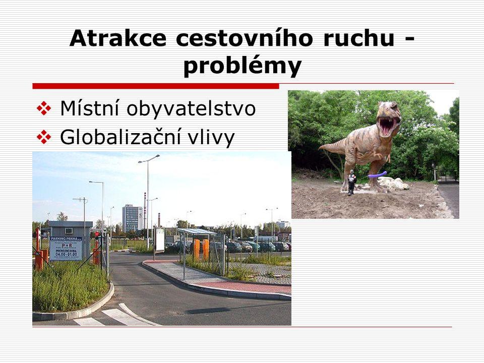 Atrakce cestovního ruchu - problémy