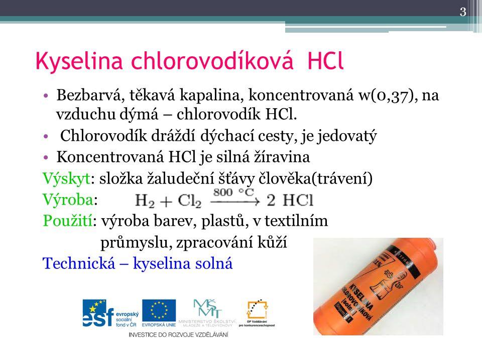 Kyselina chlorovodíková HCl
