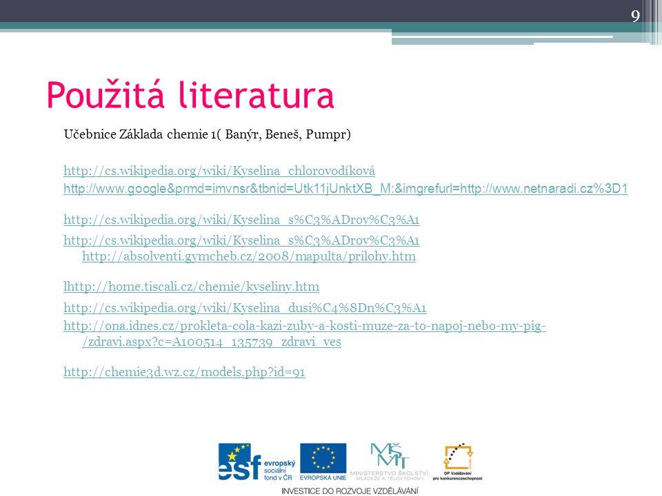 9 Použitá literatura.