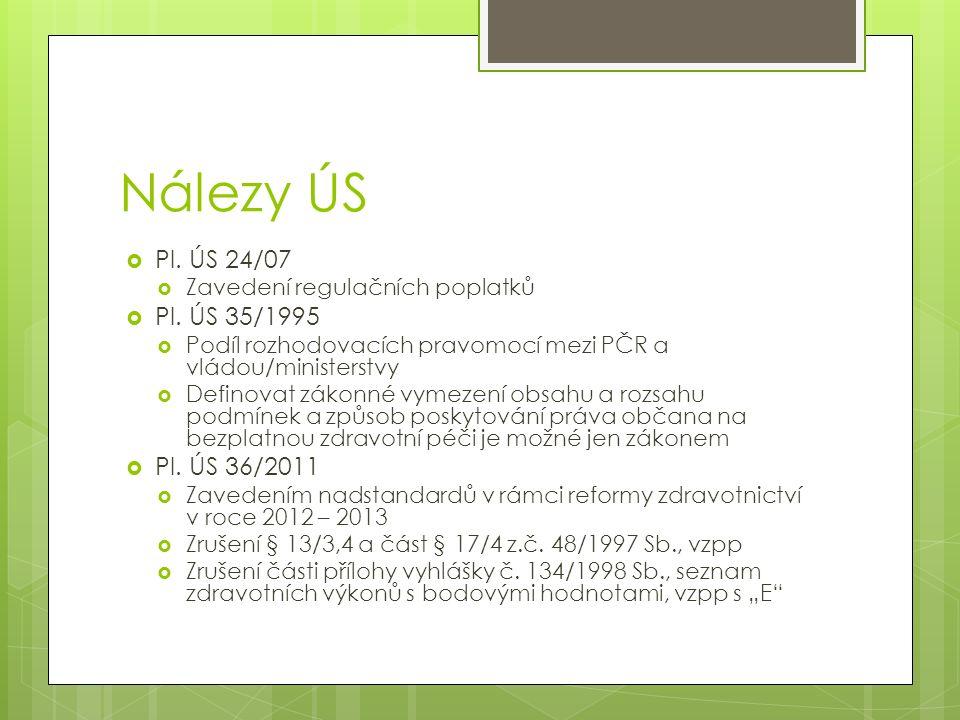 Nálezy ÚS Pl. ÚS 24/07 Pl. ÚS 35/1995 Pl. ÚS 36/2011