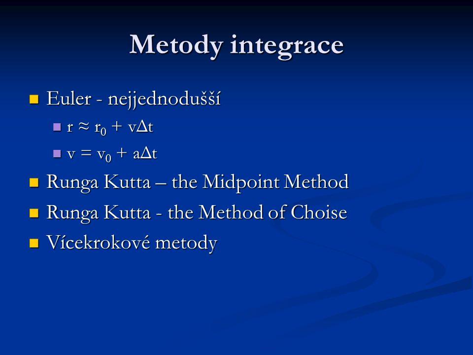 Metody integrace Euler - nejjednodušší