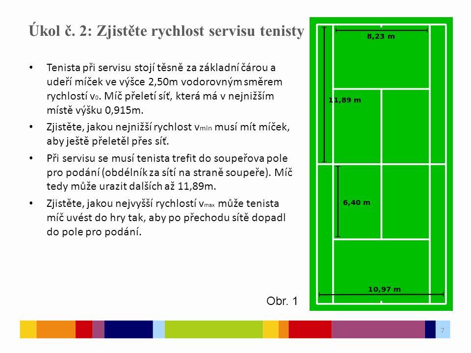 Úkol č. 2: Zjistěte rychlost servisu tenisty