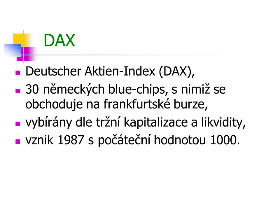 DAX Deutscher Aktien-Index (DAX),