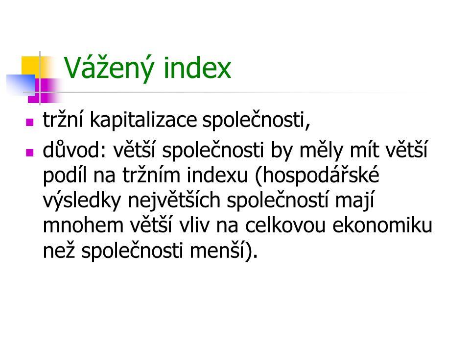 Vážený index tržní kapitalizace společnosti,