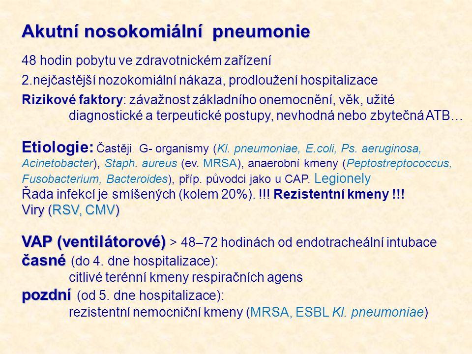 Akutní nosokomiální pneumonie