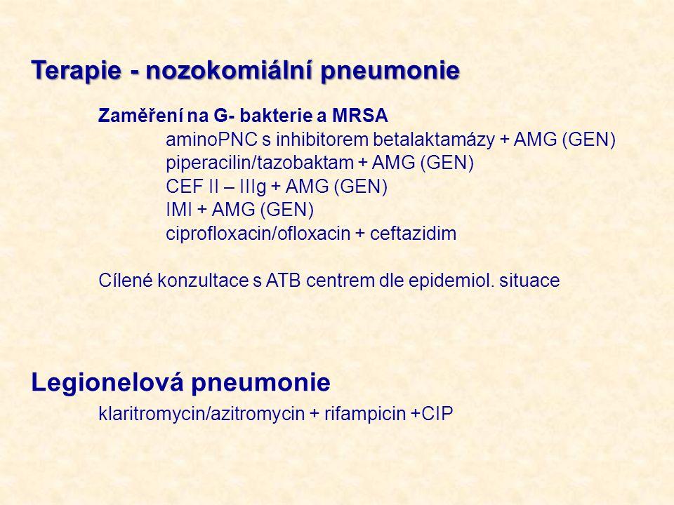 Terapie - nozokomiální pneumonie