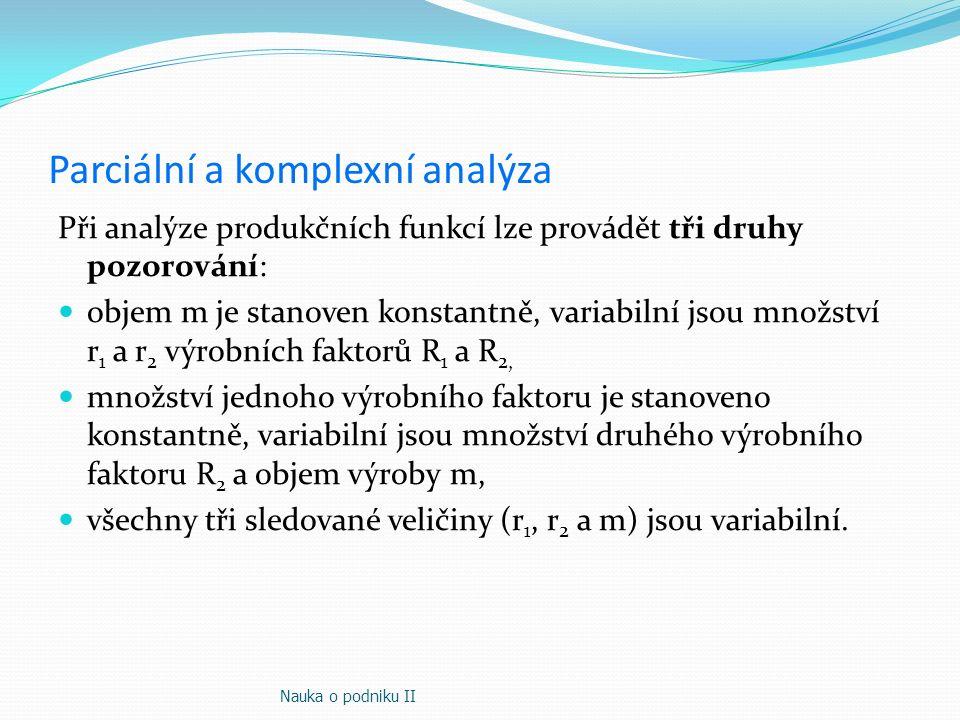 Parciální a komplexní analýza