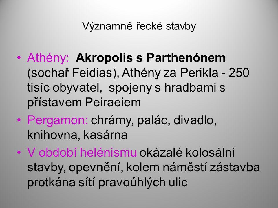 Pergamon: chrámy, palác, divadlo, knihovna, kasárna