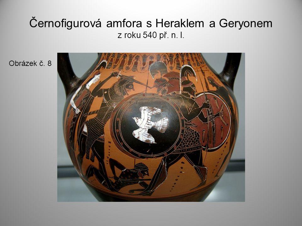 Černofigurová amfora s Heraklem a Geryonem z roku 540 př. n. l.