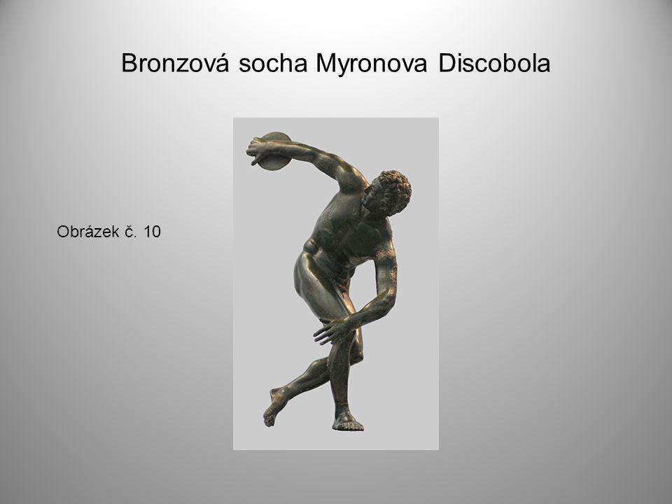 Bronzová socha Myronova Discobola