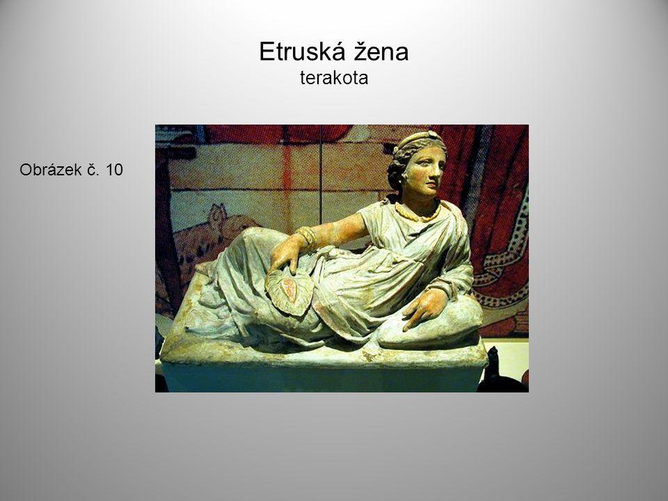 Etruská žena terakota Obrázek č. 10
