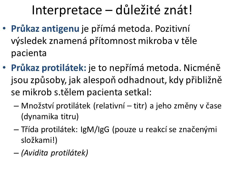 Interpretace – důležité znát!