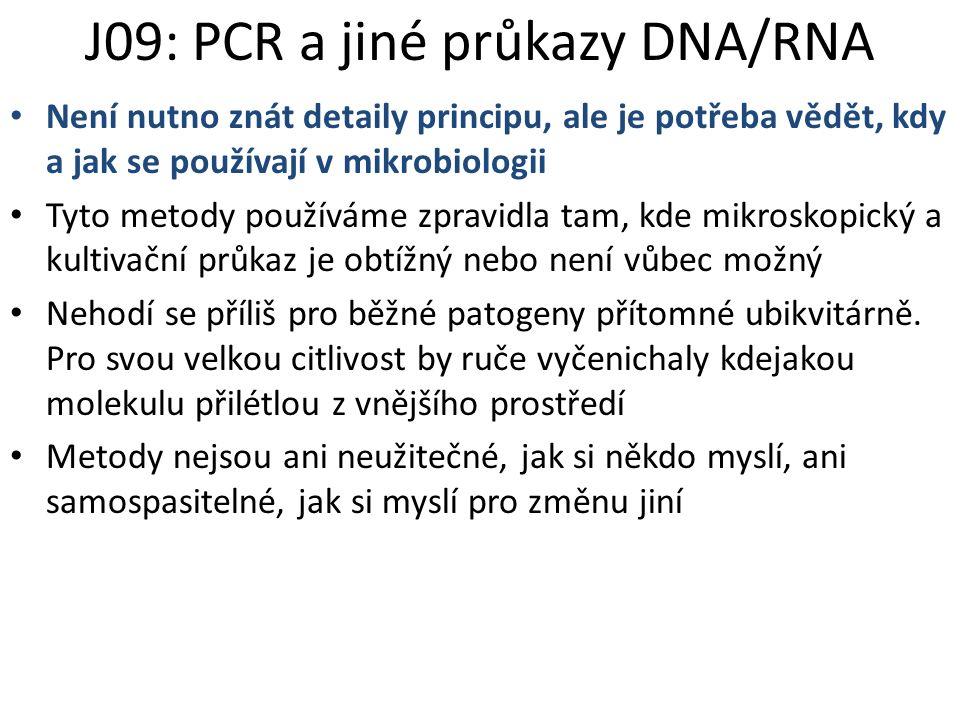 J09: PCR a jiné průkazy DNA/RNA