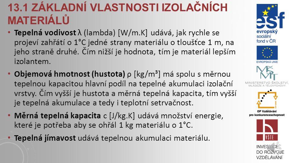 13.1 Základní vlastnosti izolačních materiálů