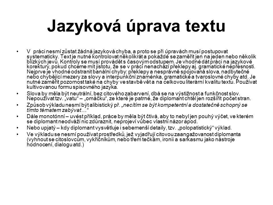 Jazyková úprava textu