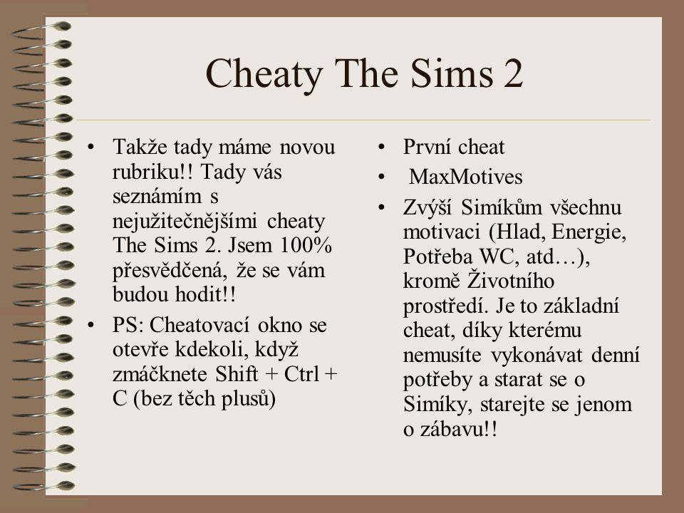 Cheaty The Sims 2