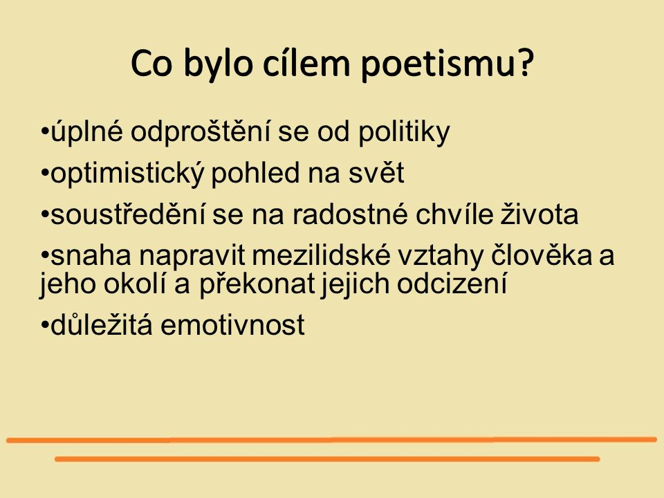 Co bylo cílem poetismu úplné odproštění se od politiky