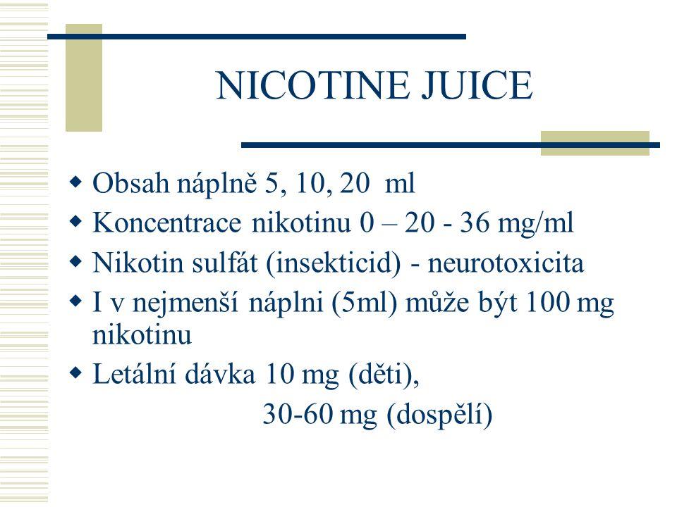 NICOTINE JUICE Obsah náplně 5, 10, 20 ml