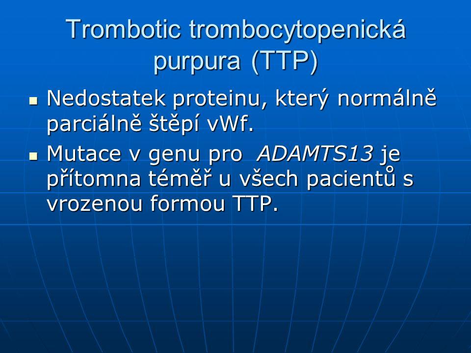 Trombotic trombocytopenická purpura (TTP)