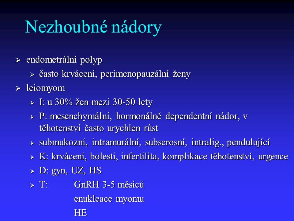 Nezhoubné nádory endometrální polyp