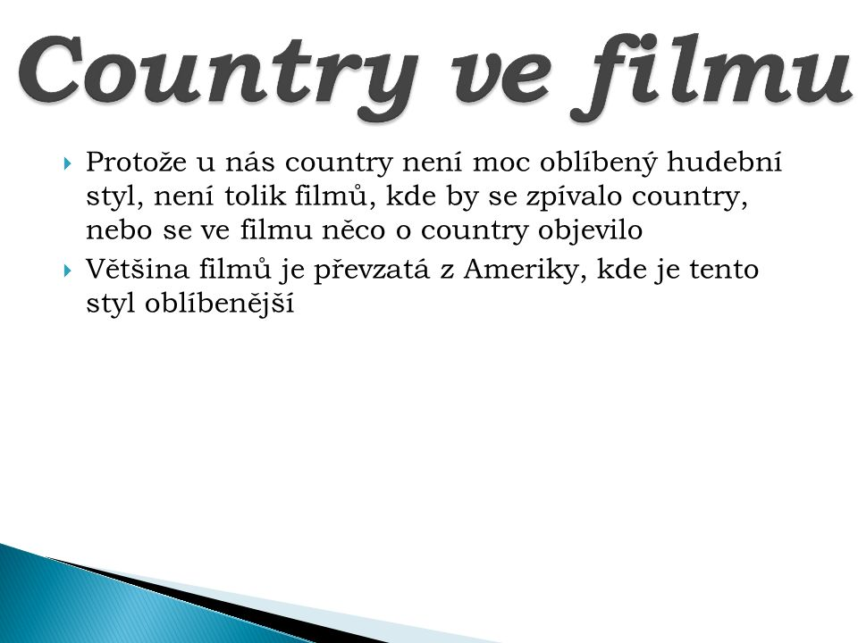 Country ve filmu
