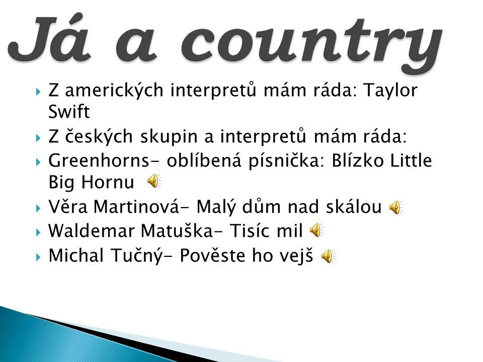 Já a country Z amerických interpretů mám ráda: Taylor Swift