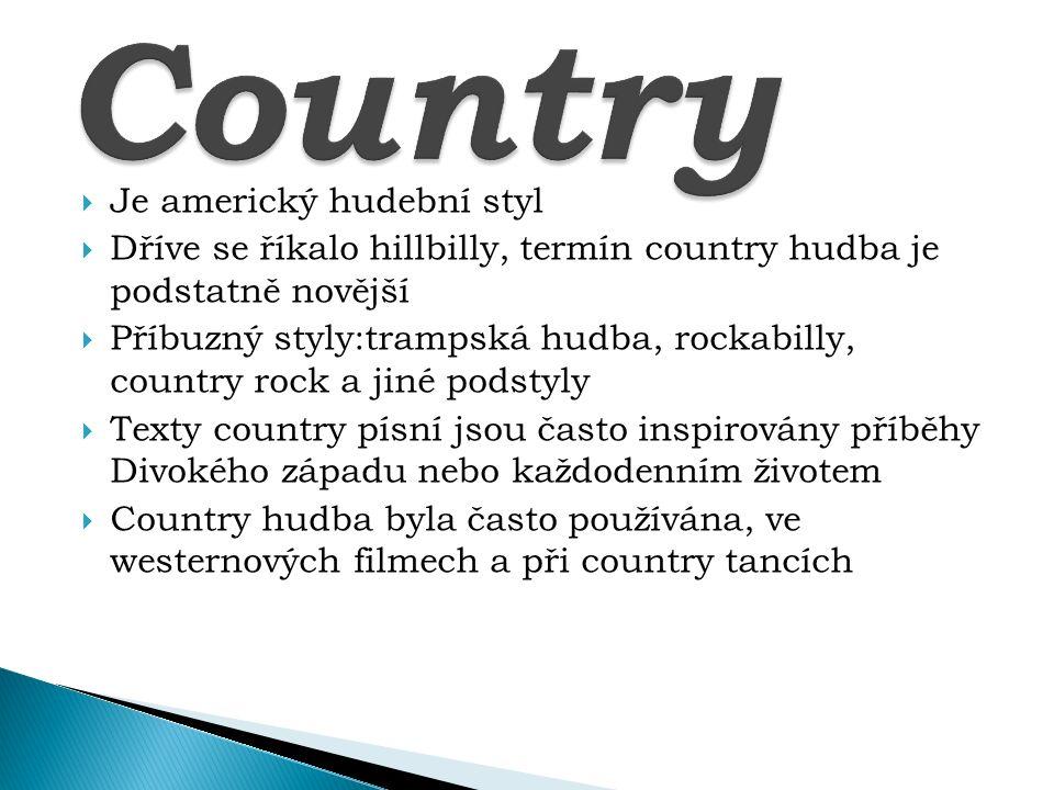Country Je americký hudební styl