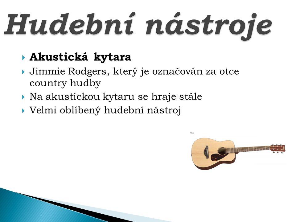 Hudební nástroje Akustická kytara