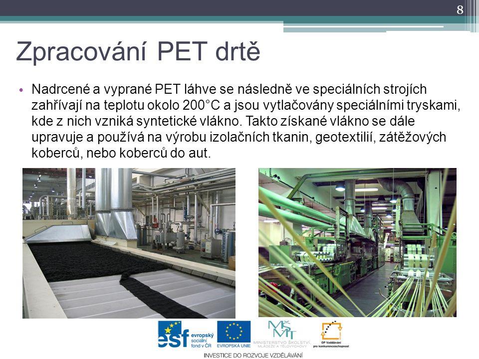 Zpracování PET drtě